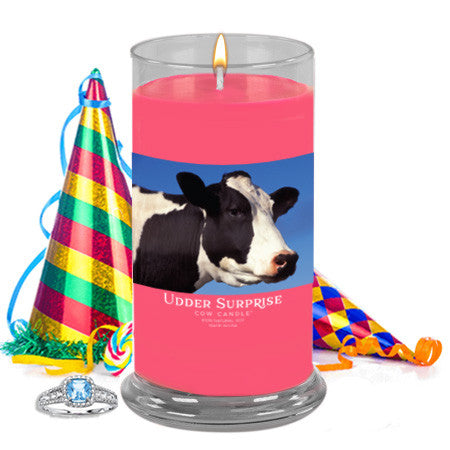 Birthday Cake Jewelry Cow Candle