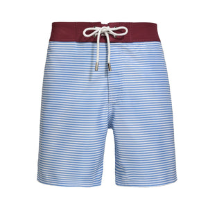 Barney Striped Marina light blue swim shorts - Blue Avenue