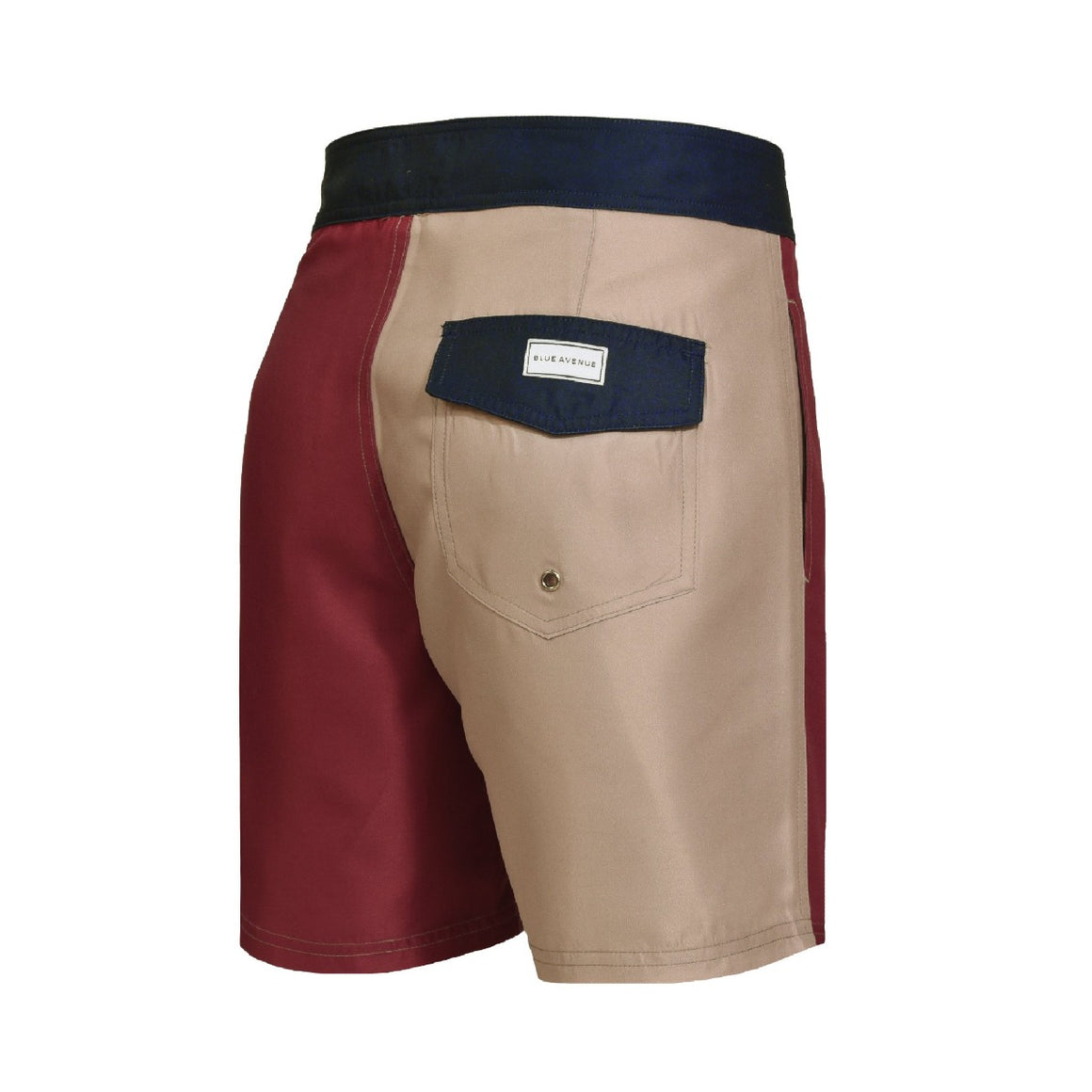 Barney Color Block Creamy Bordeaux Swim Shorts- Blue Avenue