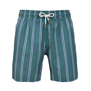 Classic Authentic II Almafi striped green swim shorts - Blue Avenue