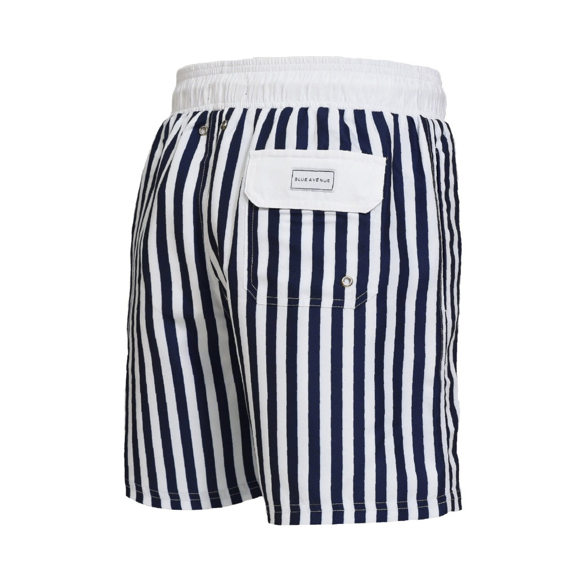 Classic Saint-Tropez striped blue and white swim shorts - Blue Avenue