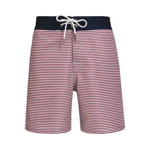 Barney Striped Santi red and blue swim shorts - Blue Avenue
