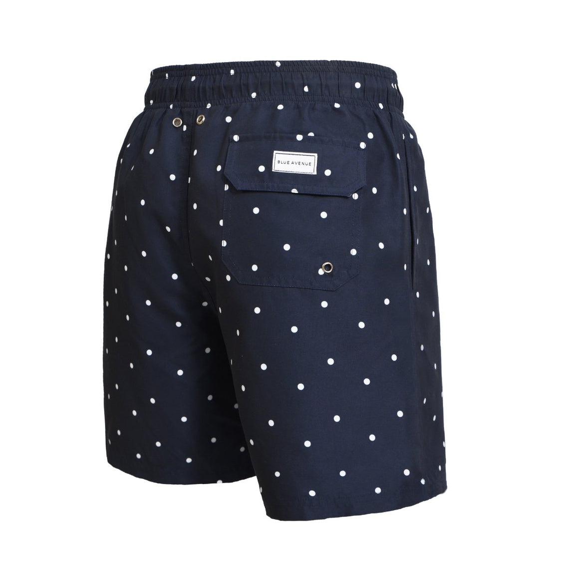 Classic Dots blue swim shorts - Blue Avenue