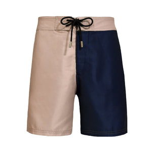 Barney Color Block Creamy Blue Swim Shorts - Blue Avenue