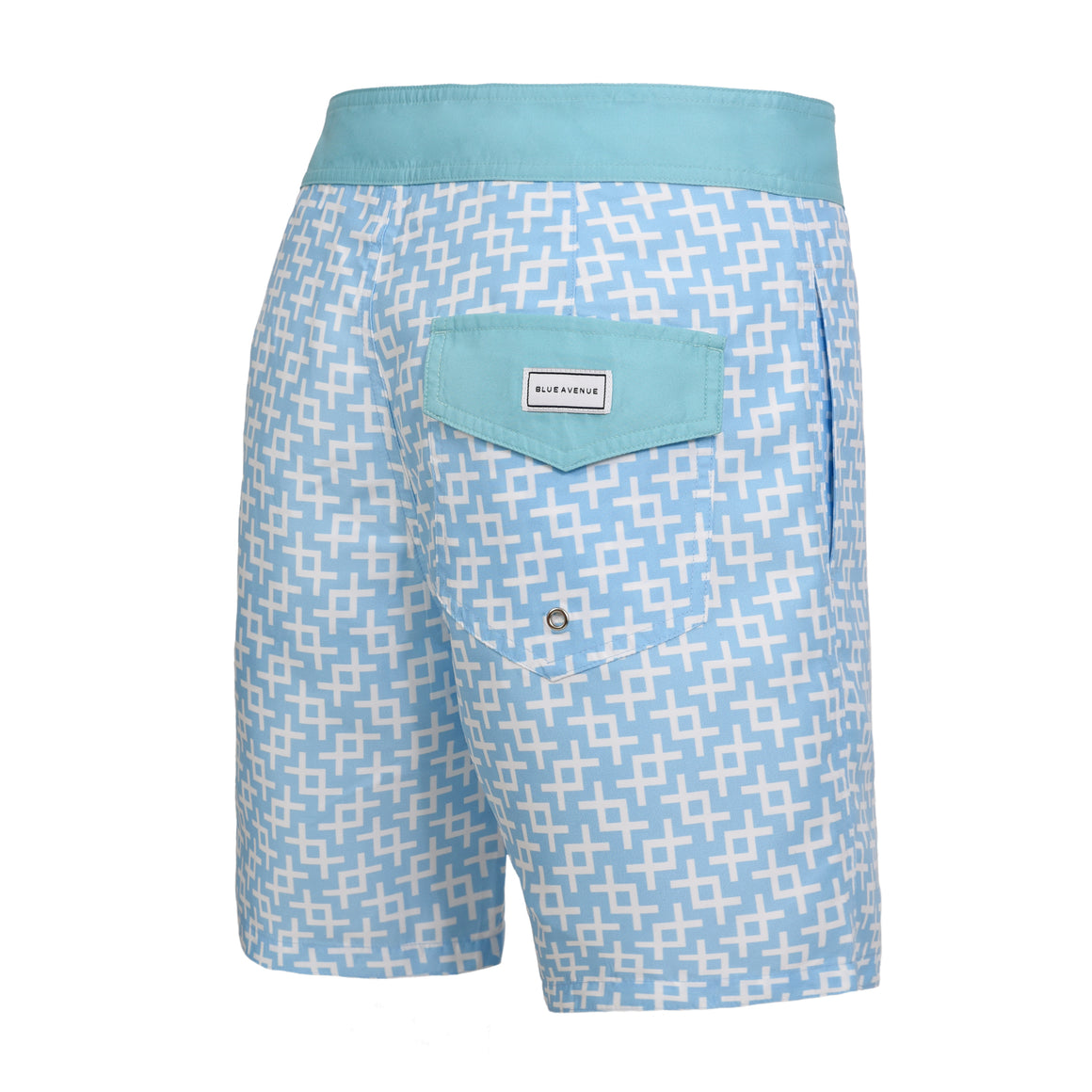 Barney Geometric Light Blue