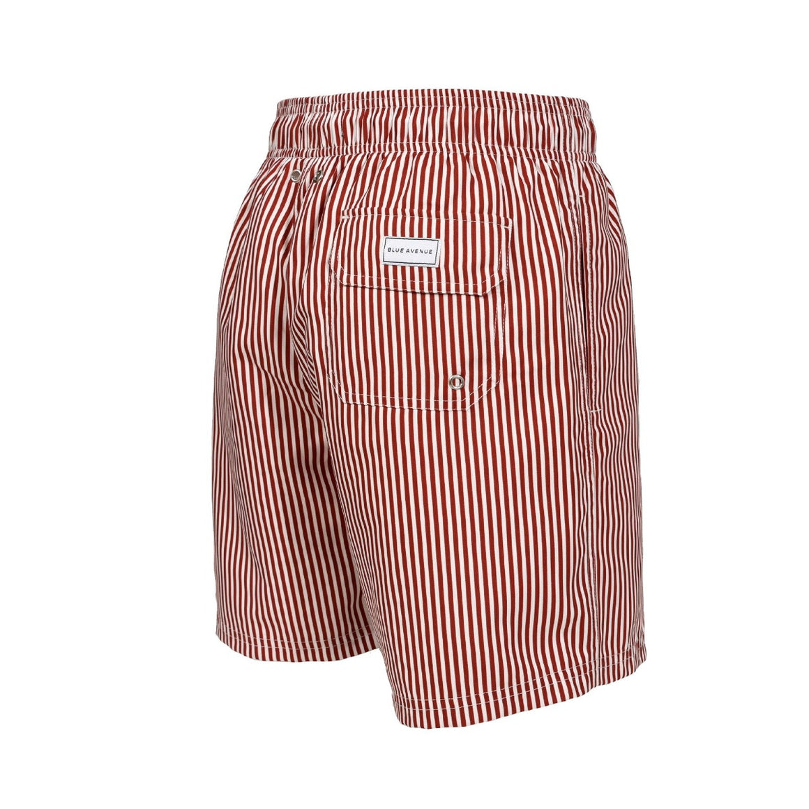 Classic Striped Ancão red and white striped swim shorts - Blue Avenue