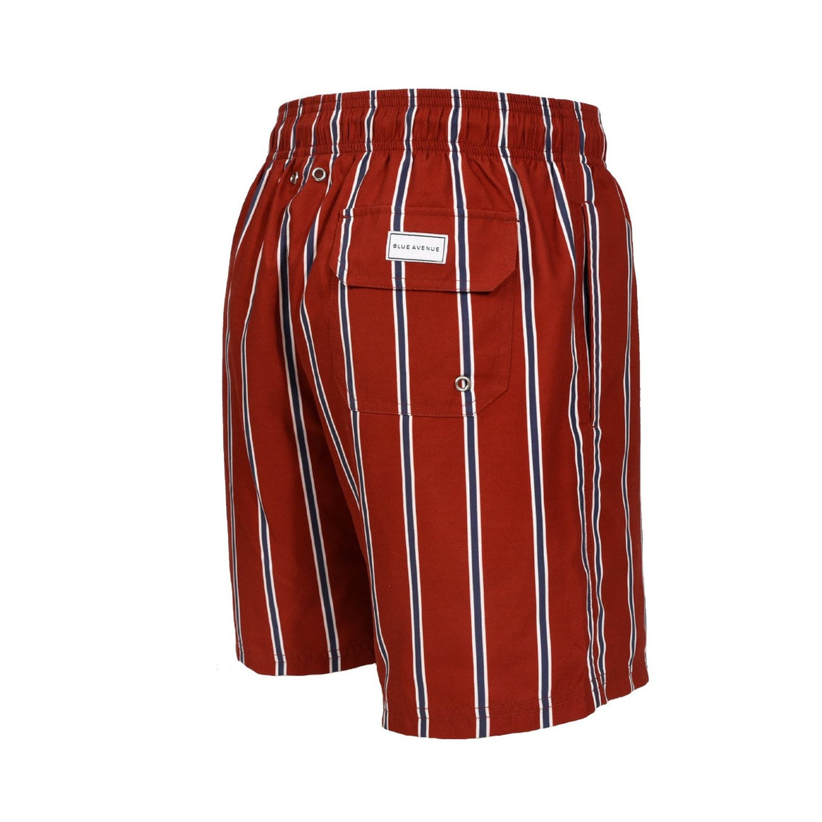 Classic Authentic II Positano striped red swim shorts - Blue Avenue