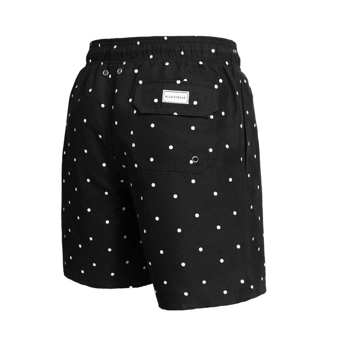 Classic Black Mamba black dotted swim shorts -Blue Avenue