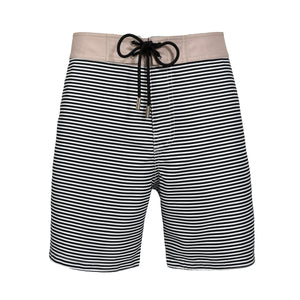 Barney Striped Black Sand swim shorts - Blue Avenue