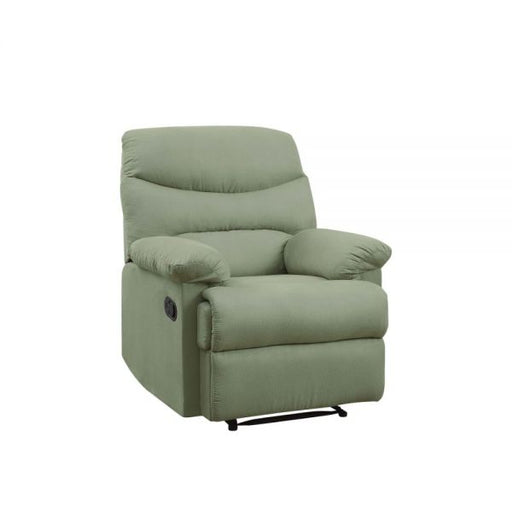 Arcadia Sage Microfiber Recliner (Motion) - Canales Furniture