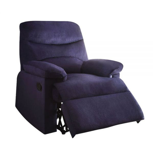 Arcadia Blue Woven Fabric Recliner (Motion) - Canales Furniture