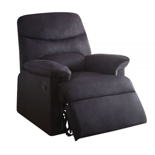 Arcadia Black Woven Fabric Recliner (Motion) - Canales Furniture