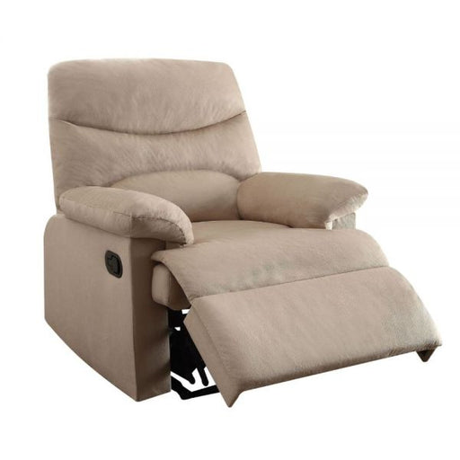 Arcadia Beige Woven Fabric Recliner (Motion) - Canales Furniture