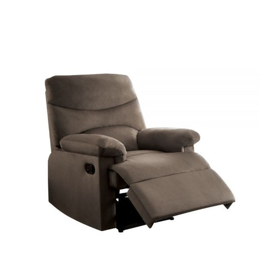 Arcadia Light Brown Woven Fabric Recliner (Motion) - Canales Furniture
