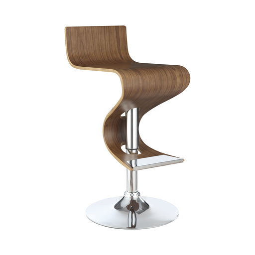 Adjustable Bar Stool Walnut And Chrome - Canales Furniture