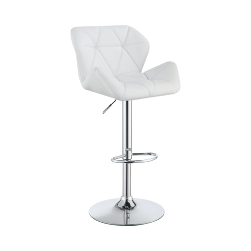 Adjustable Bar Stools Chrome And White - Canales Furniture