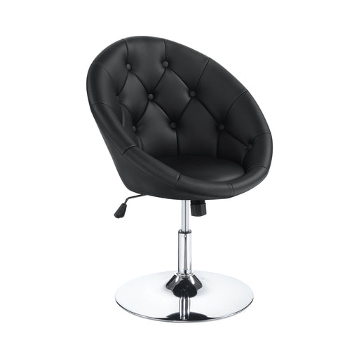Round Tufted Swivel Chair - Canales Furniture