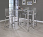 Clear Acrylic Bar Table - Canales Furniture