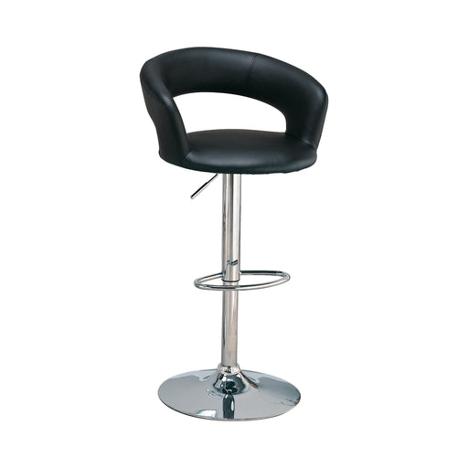 Black Adjustable Bar Stool - Canales Furniture