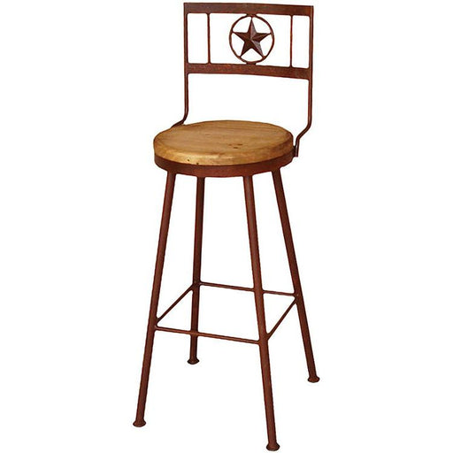 "Swivel Star Barstool 24"" - Canales Furniture"