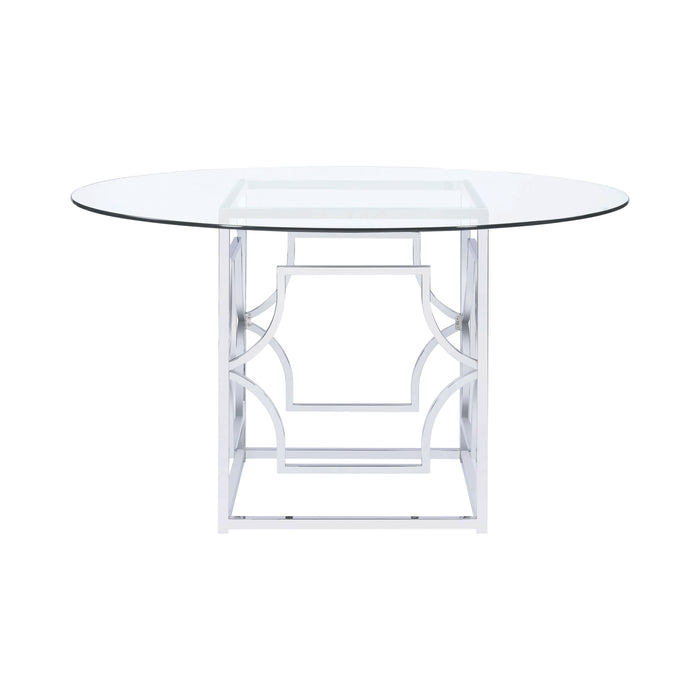 Starlight Dining Table Base Chrome - Canales Furniture