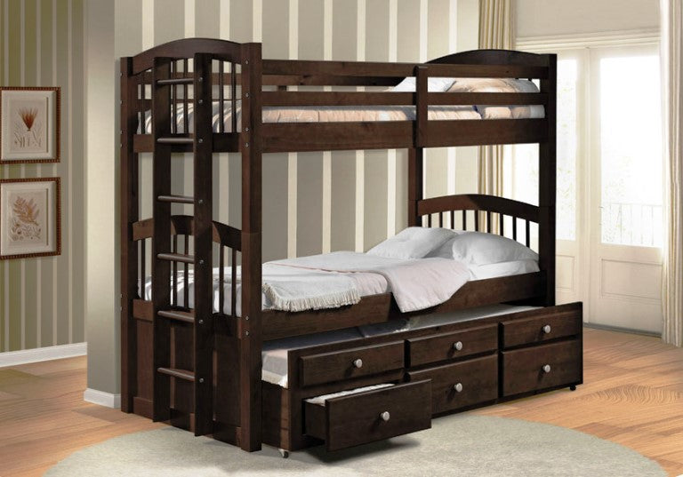 Micah Espresso Bunkbed - Canales Furniture