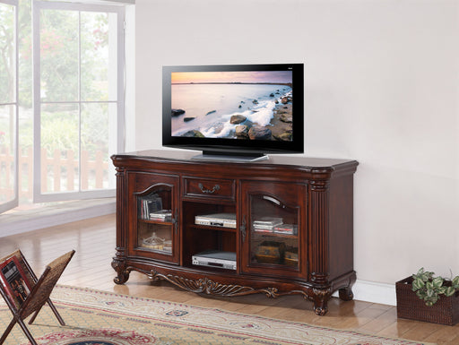 Remington Brown Cherry TV Stand - Canales Furniture