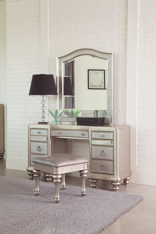9-Drawer Vanity Set Metallic Platinum - Canales Furniture