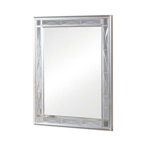 Leighton Vanity Mirror Metallic Mercury - Canales Furniture