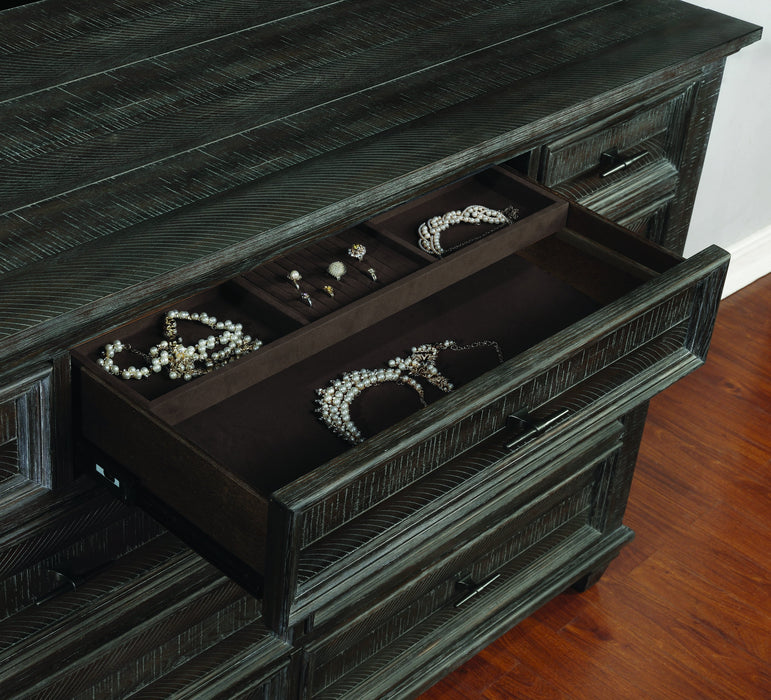 Atascadero 9-Drawer Dresser Weathered Carbon - Canales Furniture