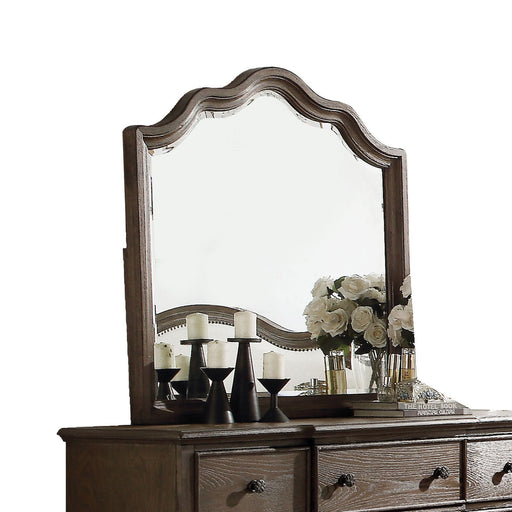 Baudouin Weathered Oak Mirror - Canales Furniture