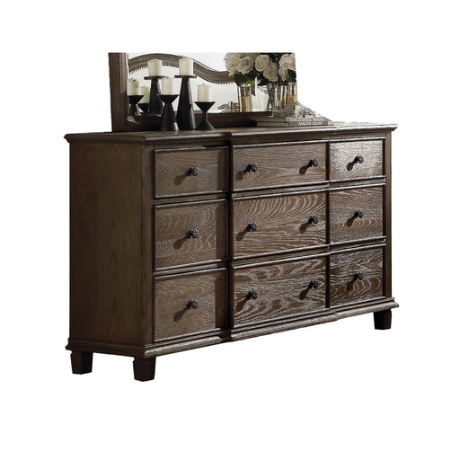 Baudouin Weathered Oak Dresser - Canales Furniture