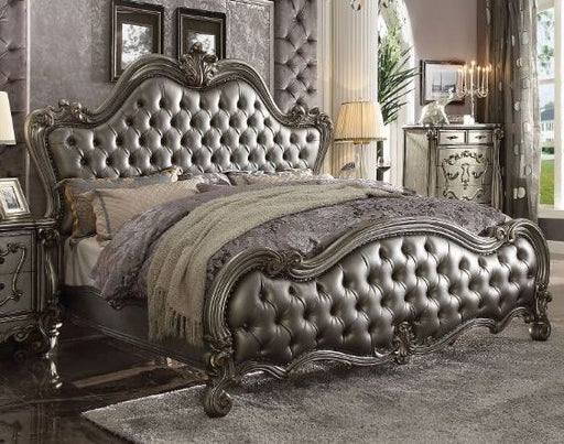 Versailles II Antique Silver Bed - Canales Furniture