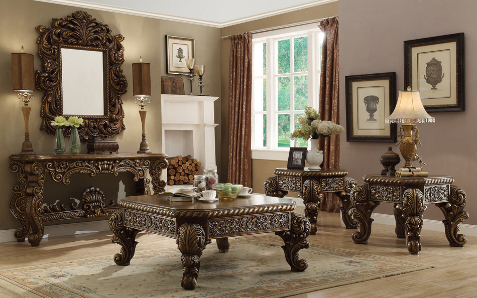 Vienna Mansion Euro Occasional Table Set - Canales Furniture