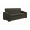 Miller Upholstered Sleeper Sofa Bed Charcoal Grey