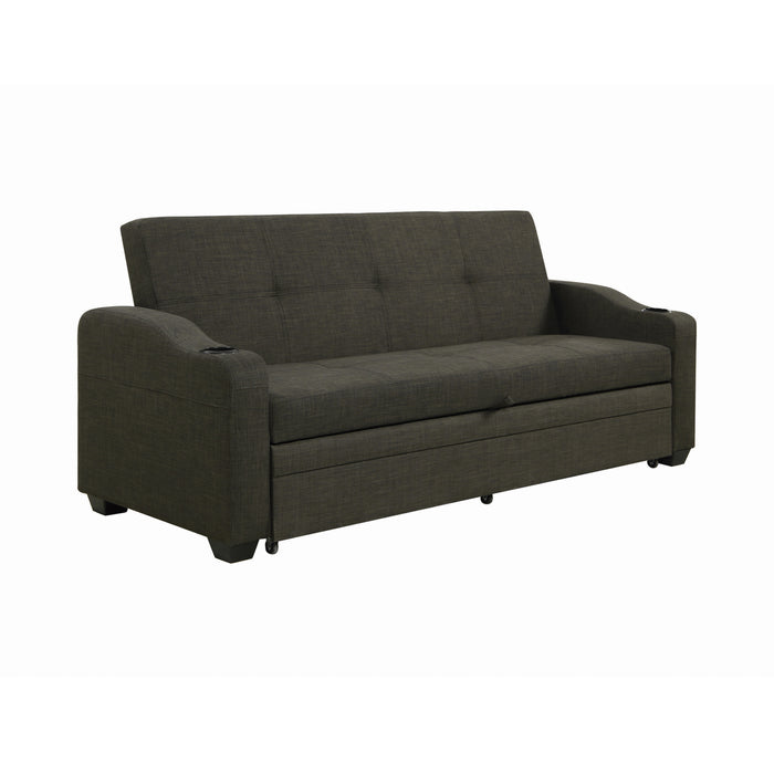 Miller Upholstered Sleeper Sofa Bed Charcoal Grey - Canales Furniture