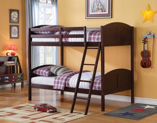 Toshi Espresso Bunk Bed (Twin/Twin) - Canales Furniture