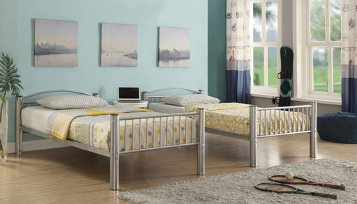 Cayelynn Silver Bunk Bed (Twin/Twin) - Canales Furniture