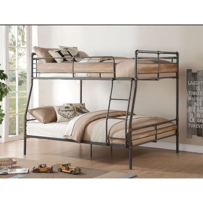 Brantley II Full/Queen Bunk Bed - Canales Furniture