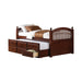 Twin Captain's Bed with Trundle - Canales Furniture