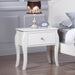 Dominique 1-Drawer Nightstand White - Canales Furniture