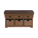 42″ 3-Drawer Storage Bench Brown - Canales Furniture