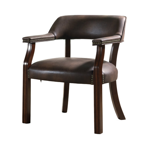 Upholstered Office Chair With Nailhead Trim Brown - Canales Furniture