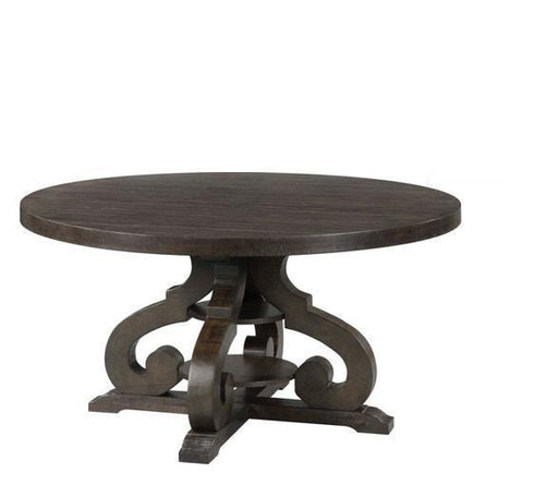 Stone Round Pedestal Dining Table - Canales Furniture
