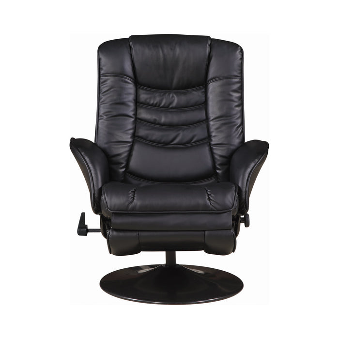 Upholstered Swivel Recliner Black - Canales Furniture