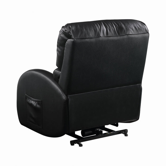 Upholstered Power Lift Recliner Black - Canales Furniture
