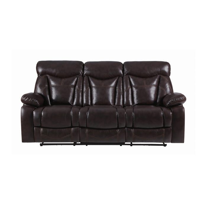 Zimmerman Pillow Top Arm Sofa Dark Brown - Canales Furniture