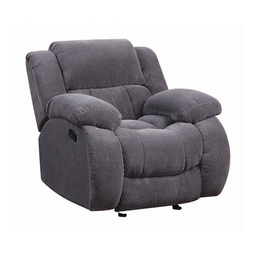 Weissman Upholstered Glider Recliner - Canales Furniture