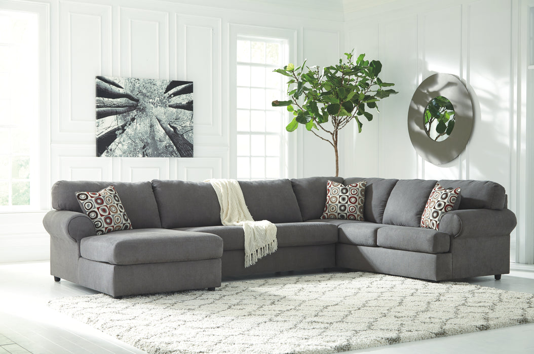 Jayceon Signature Design by Ashley 3-Piece Sectional with Chaise - Canales Furniture
