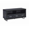 3-Drawer TV Console Black Oak